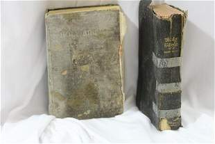 Lot of Two Old Bible