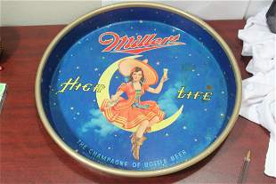 A Miller High Life Beer Tray