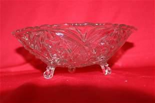 A Three Legged Glass Bowl