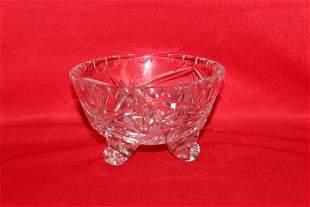 A Small Three Legged Glass Bowl