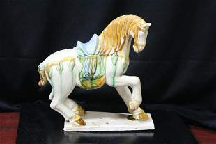 A Chinese, Tang Style Ceramic Horse
