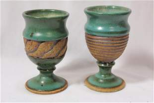 Lot of 2 Art Pottery Cups
