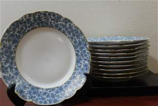 Set of 10 Limoge Salad Plates