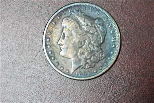 A Toned 1891 Morgan Silver Dollar