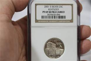 An NGC Graded 2001-S Silver Quarter