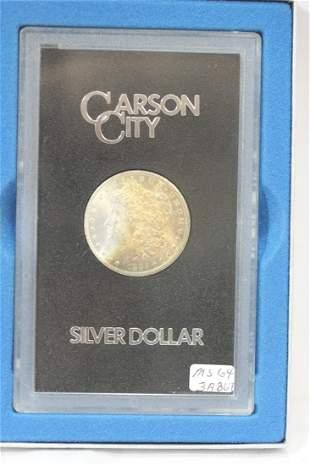 A Very Rare Toned 1885-CC Morgan Silver Dollar