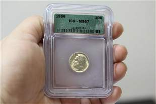 An ICG Graded 1956 Roosevelt Dime