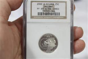 An NGC Graded 2002-S Silver Quarter