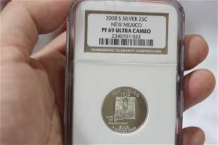 An NGC Graded 2008-S Silver Quarter