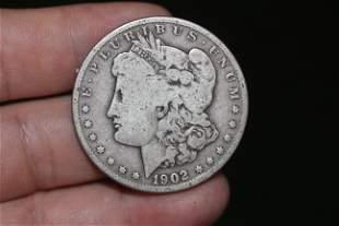 A 1902-O Morgan Silver Dollar