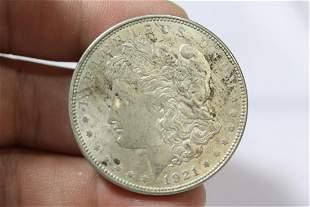 A 1921 Morgan Silver Dollar