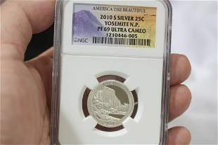 An NGC Graded 2010-S Silver Quarter