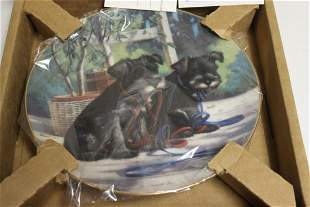 "Collector's Plate "" New Leash on Life"" by Jim Lamb"