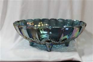 A Carnival Glass Fruit Bowl