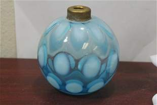 A Victorian Blue Glass Bulb