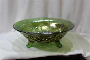 An Imperial Carnival Glass Footed Bowl