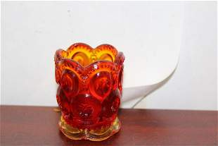 A Carnival Glass Toothpick Holder