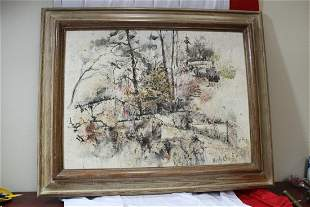 A Signed Carly Craig '56 Oil on Board
