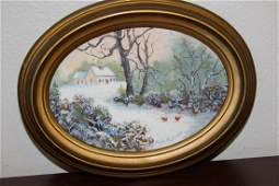 An Oil on Board Painting by Mable McAdams
