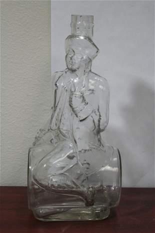 A Viarengo Torino Figural Wine Bottle