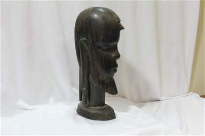 An African Ebony Wood Statue