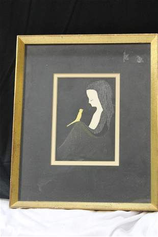 A Kaoru Kawano Woodblock Print