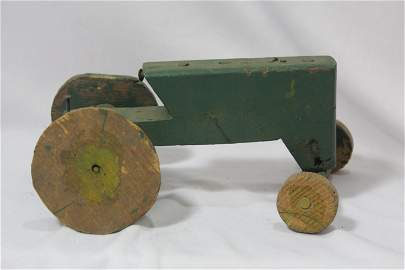 A Wooden Tractor