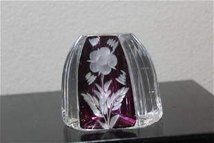 A Crystal Cut Glass Paperweight
