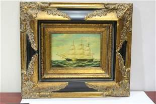 A Framed Print of a Clipper Ship