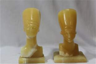 A Pair of Onyx Egyptian Figurines