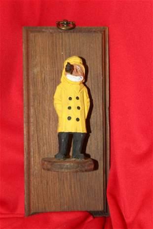A Wooden Captain Wall Hanger