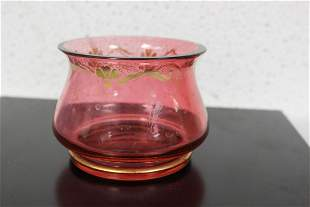 A Cranberry Colour Squad Vase