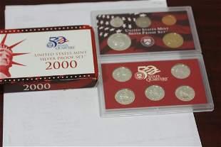 A 2000 US Mint Silver Proof Set
