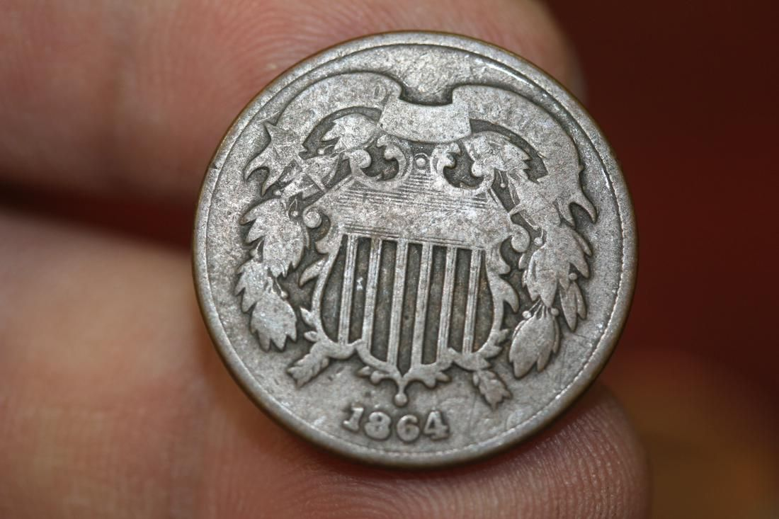 A Civil War Era 1864 2 cent Piece