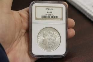 An NGC Graded 1884-O Morgan Silver Dollar