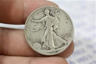 A 1941-D 90% Silver Walking Liberty Half Dollar