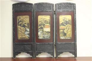 Antique Japanese Wooden Screen