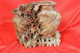 A Vintage Soap Stone Vase