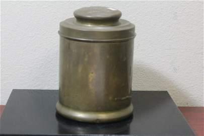 An Antique La Palina Senator Brass Cigar Jar