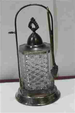 A Victorian Silverplated  Pickle Castor