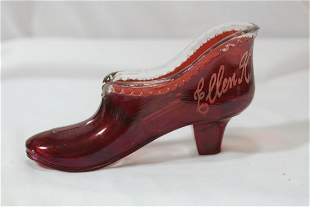 A Ruby Red Glass Shoe