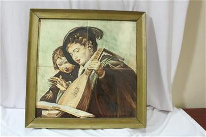 A Print or Painting on Tile