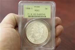 A PCGS Graded 1880-S Morgan Silver Dollar