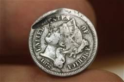 An 1872 3 Cent Piece