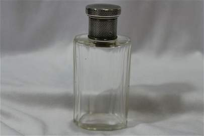 A Parfume Bottle with Sterling Top
