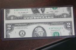 A Possibly Novelty or Mint Error Two Dollar Note