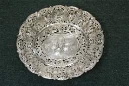 An 800 Silver Filigree Tray