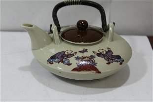 A Ceramic Chinese Teapot