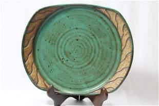 An Art Pottery Plate