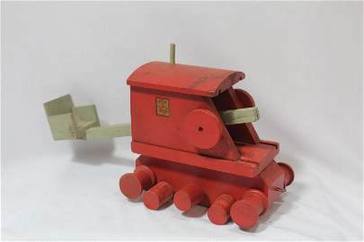 A Wooden Model Wagon/ Catapult